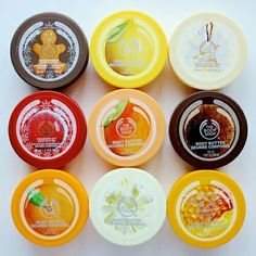 The Body Shop body butters. I currently have a big coconut one but I'm thinking about getting either the chocomania or frosted cranberry butters too.