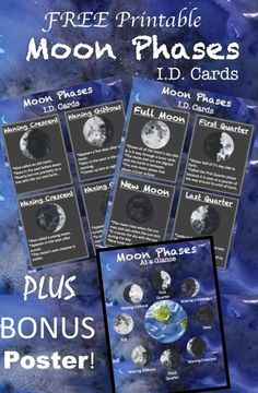 FREE Printable Solar System ID Flashcards - LOVE these ...