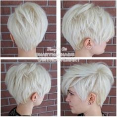 Coupe courte femme platine blonde #tomboy #haircut