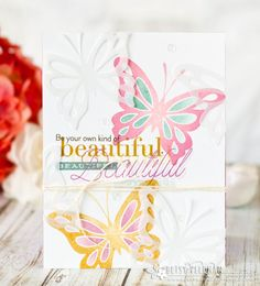 Be Your Own Kind Of Beautiful Card by Betsy Veldman for Papertrey Ink (February 2017)