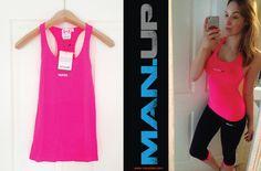 MAN.UP Gymwear Womens Seamless Pink Tank