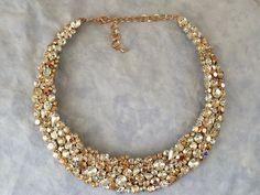 wedding necklace, bridal necklace, Rose gold wedding, Rose gold necklace, collar necklace, statement necklace