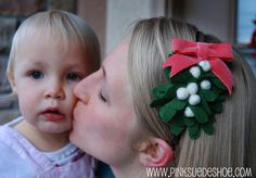 Mistletoe headband = adorable for holiday parties!