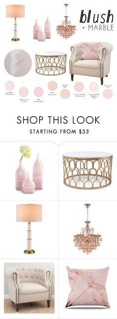 """""""blush&marble"""" by joliedy ❤ liked on Polyvore featuring interior, interiors, interior design, home, home decor, interior decorating, Cyan Design and Jofran"""