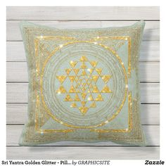Sri Yantra Golden Glitter - Pillow