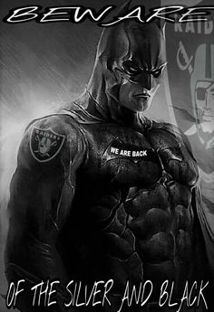That's right beware of the black and silver I also like batman In this pin Oakland Raiders Logo, Okland Raiders, Raiders Players, Raiders Stuff, Raiders Girl, Raider Nation, Oakland Raiders Wallpapers, Football Memes, Football Season