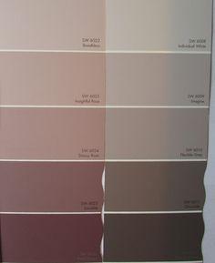 Peinture Rose Et Couleur Grise En Nuances Différentes Couleur Mur Chambre,  Couleur Grise, Nuance