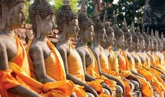 The Wat Yai Chai Mongkol meditation site in Ayuthaya, Thailand Thailand Adventure, Summer Palace, Cruise Port, Chiang Mai, Day Tours, World Heritage Sites, Beach Resorts, Places To See, The Incredibles