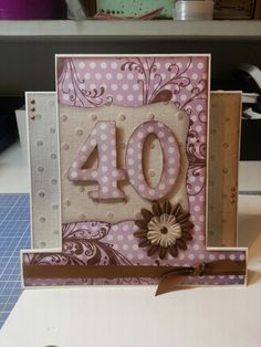 40th Birthday Card made with Kaszazz stamp