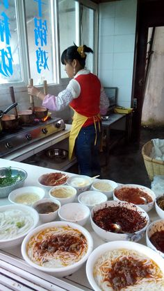 Rice noodle breakfast, Yunnan, China  One of the Best Breakfasts in the world!!