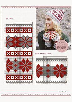 from Craftseller xmas 2014 Fair Isle Knitting Patterns, Knitting Charts, Knitting Stitches, Knitting Designs, Knitting Projects, Crochet Patterns, Knit Mittens, Knitting Socks, Baby Knitting