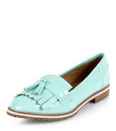 Mint Green Chunky Tassel Loafers   New Look