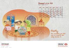 Great Calendar for kids that teaches Islamic values!