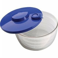 Salad Spinner Drawstring operated with clear polycarbonate bowl. by Vogue. $49.81. Approximately 2.5 litre capacity.. 260mm diameter.. Drawstring operated salad spinner quickly and easily removes excess water from salad.