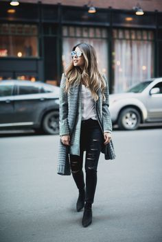 Pam Hetlinger wearing a Textured-weave Jacket, dstld ripped jeans, aldo low heel booties, dior abstract sunglasses, gray scarf, and chanel french riviera flap.