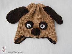 Mützen - Mütze + Schal - Hund - ein Designerstück von SilviaJaeger bei DaWanda
