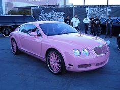 Pink Bentley in the garage…
