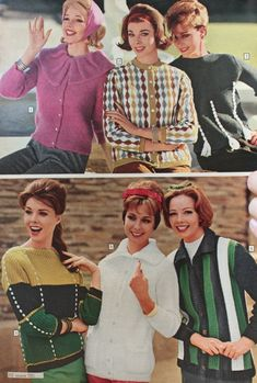 1960s Fashion: What Did Women Wear? Vintage Outfits, Vintage Fashion, Vintage Clothing, Sixties Fashion, Vintage Glamour, Vintage Ads, Vintage Photos, Vintage Style, Vintage Knitting