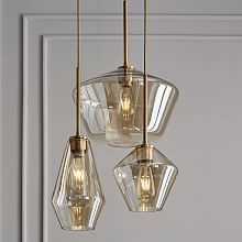West Elm - Sculptural Glass 3-Light Chandelier Mixed - entry way (clear or smokey?)