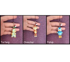 Piplup Chimchar Turtwig Pokemon Charm Pokemon Polymer Clay Dust Plug #pokemon #piplup #chimchar #turtwig #charm #polymerclay #claycrafts #figure Polymer Clay Figures, Polymer Clay Charms, Pokemon Starters, Dust Plug, Clay Crafts, Plugs, Charmed, Drop Earrings, Unique Jewelry