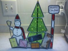 Stained glass Christmas piece.