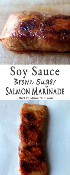 Soy Sauce Brown Sugar Marinade Even Salmon haters will love salmon with this Soy Sauce Brown Sugar Marinade .This Soy Sauce and Brown Sugar Salmon Marinade is not only an easy weeknight meal, but elegant enough to impress guests. Fish Recipes, Seafood Recipes, Dinner Recipes, Cooking Recipes, Healthy Recipes, Recipies, Cooking Games, Kitchen Recipes, Sauce Recipes