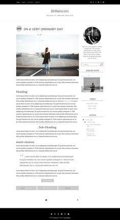 Responsive Blogger Template - 2 by Usual Habitat Blog Shop on @creativemarket Minimal, Simple, Modern, Responsive Blogger Template with Custom gadgets.