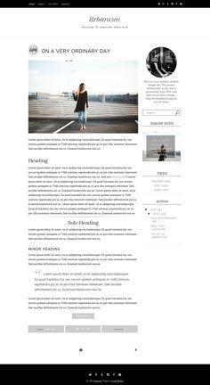 Responsive Blogger Template - 2 by Usual Habitat Blog Shop on @creativemarket Minimal, Simple, Modern, Responsive Blogger Template with Custom gadgets.