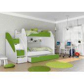 Patul este ideal pentru camera copiilor si are un stil modern, este fabricat din MDF, dispune de lada de depozitare, finisajul si picioarele sunt din lemn. Este disponibil pentru mai multe culori si anume, alb, roz, albastru, gri, verde. Lungime este de 257 cm iar latimea este de 130 cm. Dimensiunea spatiului de dormit este 120 x 200 cm. Se beneficiaza de 2 ani garantie. #patetajat #patsupraetajat #patcopii Toddler Bed, Furniture, Home Decor, Child Bed, Decoration Home, Room Decor, Home Furnishings, Home Interior Design, Home Decoration