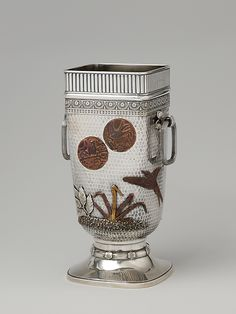 Japanesque Vase, Gorham, 1880, silver and copper