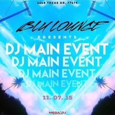 #Repost @dj_mainevent with @repostapp.  Later tonight after The Viberoom show on @thebeatjunkies Radio you can catch me turning tables at BLU Lounge! So ladies have your dance shoes ready! Fellas VIP is set! So you know the bottles are gonna be poppin'!! See ya there!! #Dj #Djs #NightLife #HoustonNightLife #BLULoungeHouston #Turntablist #Turntablism #EDM #Twerk #Trap #OpenFormat #ZakSlater #IAMDJME Powered By: @megadjcenter by megadjcenter http://ift.tt/1HNGVsC
