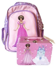 www.MochaProducts.com, Black Princess Backpack and Black Princess Lunchbox Combo Pack Lunch Box, Christian, Backpacks, Princess, Black, Black People, Christians, Women's Backpack, Backpack