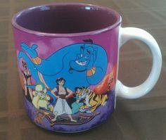 WALT DISNEY ALADDIN Coffee cup / mug 12 ounces DISNEY ALADDIN / GENIE MUG JAPAN