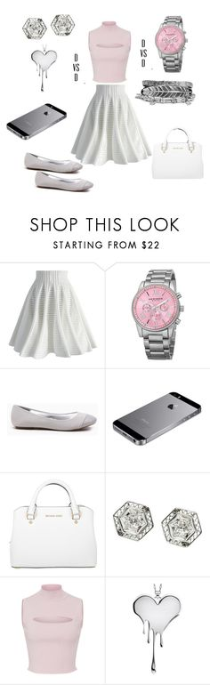 """Pretty Sunday"" by danivsdaniella ❤ liked on Polyvore featuring Chicwish, Akribos XXIV, Michael Kors, Cushnie Et Ochs, LUSASUL and Boohoo"