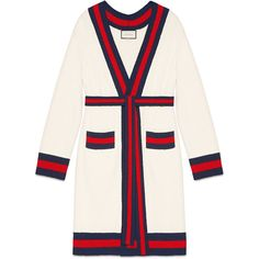 Gucci Embroidered Oversize Cardigan (351.245 RUB) ❤ liked on Polyvore featuring tops, cardigans, jackets, sweaters, outerwear, blue, embroidered cardigan, white oversized cardigan, banded waist tops and gucci cardigan