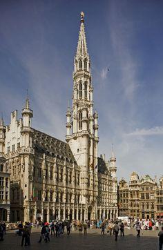 Stadhuis van Brussel, Grote Markt in Brussel  / Hôtel de ville de Bruxelles, Grand-Place à Bruxelles (foto/photo : A. de Ville de Goyet, GOB/SPRB)