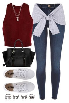 """""""Untitled #338"""" by foreverdreamt ❤ liked on Polyvore featuring River Island, Victoria, Gorjana and Maison Margiela"""