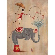 Dress up a bare wall with the Vintage Circus Elephant Canvas Wall Art from Oopsy Daisy. Cirque Vintage, Vintage Carnival, Art Wall Kids, Canvas Wall Art, Art For Kids, Playroom Art, Circus Art, Circus Theme, Circus Birthday