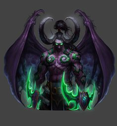 Warcraft Heroes, Warcraft Art, World Of Warcraft Characters, Fantasy Characters, World Of Wacraft, Illidan Stormrage, Night Elf, Demon Art, D&d Dungeons And Dragons
