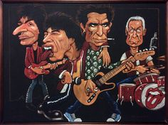 The Rolling Stones Chalk Art, Rolling Stones