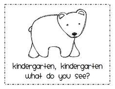 Ricca's Kindergarten: Brown Bear, Brown Bear {Freebie} I can see this working with preschoolers also! Preschool Books, Book Activities, Preschool Activities, Brown Bear Activities, Preschool Prep, Language Activities, Brown Bear Book, Bear Theme, Kindergarten Literacy