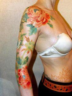 Sabine Gaffron peony tattoo