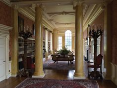 Great British Houses: Interior - Wentworth Woodhouse, Wentworth, near Rotherham, South Yorkshire, England. At over 600 feet long, it has the longest country house façade in Europe, and is also the largest private house in the UK. Built by the 1st Marquess of Rockingham, it became the family seat of the Earls Fitzwilliam.