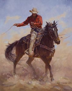 Contrary by Shawn Cameron Oil ~ 14 x I really love this painting by Cameron. Cowboy Images, Cowboy Pictures, Cowboy Artwork, Arte Equina, Cowboy Horse, Horse Drawings, Southwest Art, Country Art, Equine Art