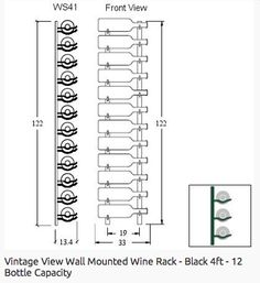 Technical drawing wall shelf – Wine World Glass Wine Cellar, Home Wine Cellars, Wine Cellar Design, Wine Glass Holder, Wine Design, Bottle Display, Wine Display, Wine Rack Wall, Wine Wall