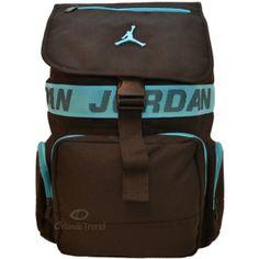 Nike Air Jordan 14 inch Laptop Large Backpack in Light Blue and Black 9A1499-B37 at OrlandoTrend.com #OrlandoTrend #Nike #Jordan