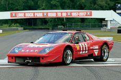 First racing Berlinetta Boxer. At Daytona in NART became the first team to race a Berlinetta Boxer. on Forza, The Magazine About Ferrari Ferrari Racing, Ferrari F40, Vintage Racing, Vintage Cars, American Racing, Roll Cage, Racing Team, Le Mans, Race Cars