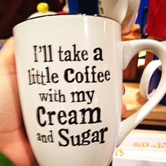 "=)I""ll take a Little caffee W/my cream and sugar Little's Coffee, I Love Coffee, Coffee Break, Coffee Cups, Drink Coffee, Sunday Coffee, Coffee Shop, Starbucks, Just In Case"