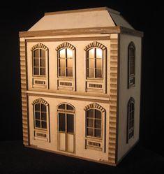 1:24 poppenhuis om zelf te maken van karton. door melissasminiwereld