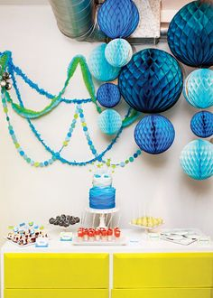 Eco-Friendly (& Adorable!) Whale Themed Baby Shower // Hostess with the Mostess®